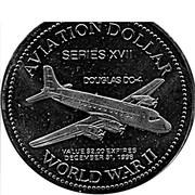 Aviation Dollar - Gander (Douglas DC-4) – reverse