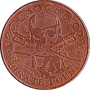 10 Pirate Pound Simba (Sailing Ship) – obverse
