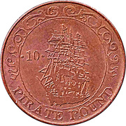 10 Pirate Pound Simba (Sailing Ship) – reverse