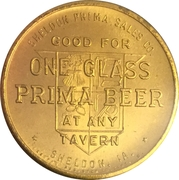 1 Glass Beer - Prima Brewing Company (Sheldon, IA) – reverse