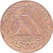 1 Dollar Token - Astor – reverse