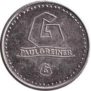 Token - Paul Greiner (Copper-nickel) – reverse