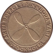 Token - Aktiebolaget Finnboda Varf – obverse