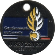 Shopping Cart Token -  Gendarmerie Nationale – obverse