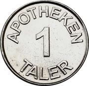 1 Taler - Dr. Graute's Apotheke (Lüdinghausen) – reverse