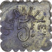 5 Francs - Rallye – obverse