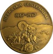 Token - Nebraska Centennial (The Cornhusker State) – reverse