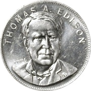 Token - Shell's Famous Facts and Faces Game (Thomas A. Edison) – obverse