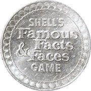 Token - Shell's Famous Facts and Faces Game (Thomas A. Edison) – reverse