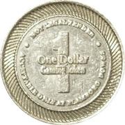 1 Dollar Gaming Token - Flamboro Downs – reverse