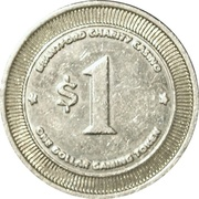 1 Dollar Gaming Token - Brantford Charity Casino – reverse