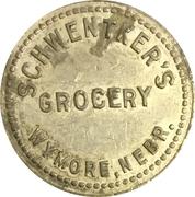 10 Cents - Schwentker's Grocery (Wymore, NE) – obverse