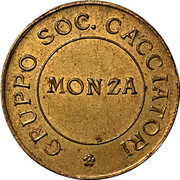 Token - Gruppo Soc. Cacciatori (Monza) – reverse