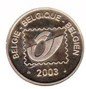 Token - Belgian Post (50 years of Belgian TV) – reverse