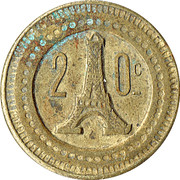 20 Centimes - A Consommer (Eiffel Tower) – obverse
