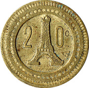 20 Centimes - A Consommer (Eiffel Tower) – reverse