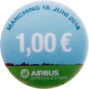 1 Euro (Familientag Airbus) – reverse