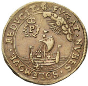 Jacques Philippe de Dongelberg, intendant of the canal of Brussels – reverse