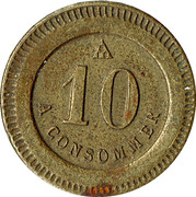 10 Centimes - A Consommer (Sheep) – reverse