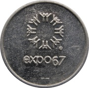 Token - Expo 67 (for US Currency Exchange) – obverse