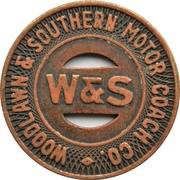1 Fare - Woodlawn & Southern Motor Coach Co. (Aliquippa, Pennsylvania) – obverse