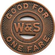 1 Fare - Woodlawn & Southern Motor Coach Co. (Aliquippa, Pennsylvania) – reverse