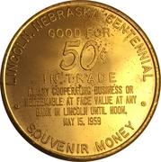 50 Cents - Lincoln (Nebraska Centennial) – reverse
