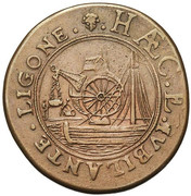 Jean van der Hecke, superintendent of the canal of Brussels – reverse