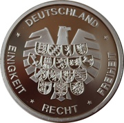 Token - Deutschland Einigkeit Recht Freiheit (Saarland - 50th year as Federal state) – reverse