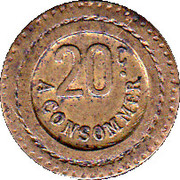 20 Centimes - A Consommer (Tiger) – reverse