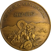 Token - Nebraska Centennial (York County) – reverse