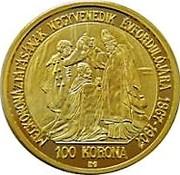 100 Korona - Franz Joseph I (1848/1867-1916, Coronation - Replica) – reverse