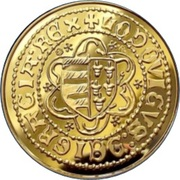 Forint - I. Lajos , the Great (Replica) – obverse