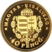 40 Pengő Rákóczi Ferenc (Replica) – obverse