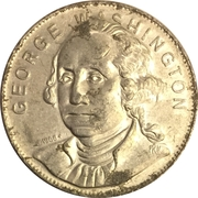 Token - Shell's Famous Facts and Faces Game (George Washington) – obverse