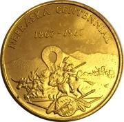 Token - Nebraska Centennial (Wahoo Coin Club) – reverse