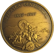 Token - Nebraska Centennial (Sarpy County) – reverse