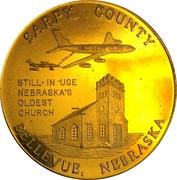 Token - Nebraska Centennial (Sarpy County) – obverse