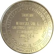 Token - Nebraska Centennial (The Nebraskaland Centennial Show) – obverse