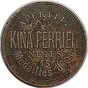 Token - Kina Perrier (Grosse tête de Marianne) – reverse