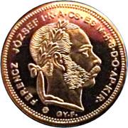 20 Francs / 8 Forint - I. Ferenc József (Replica) – obverse