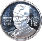 Token - Josip Broz Tito (16 mm; .925) – obverse