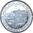 Token - Josip Broz Tito (16 mm; .925) – reverse