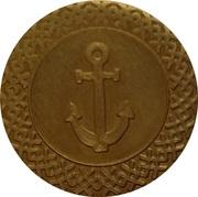 Casimir's Fair token (Anchor) – obverse