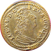 Louis XV and ship ML – obverse