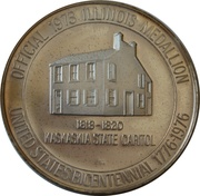 Illinois state medallion – obverse