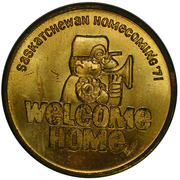 Token - Saskatchewan Homecomming – obverse