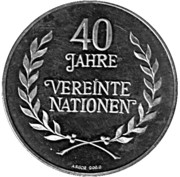 Token - 40 Jahre Vereinte Nationen – obverse