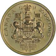 """Medallion - Sudbury """"Numismatic Park"""" (20 Dollars) – reverse"""