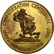 Medallion - Canadian Centennial (Flin Flon, Manitoba) – obverse
